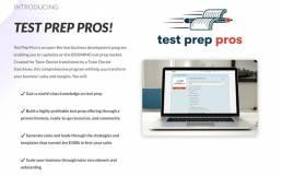 test prep pros landing page